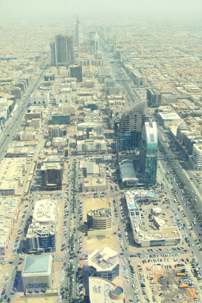 View from SkyBridge, towards Al Faisaliyah Tower